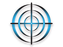 Abstract target shape. Blue abstract target shape Royalty Free Stock Image