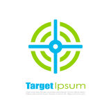 Abstract target vector logo. Abstract target logo vector illustration Stock Photography