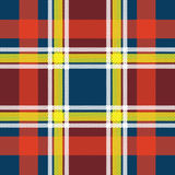 Abstract Tartan. In red, yellow and white tones -  file Royalty Free Stock Photography