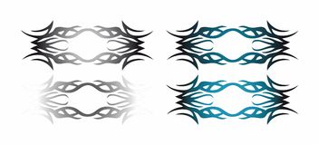 Abstract tattoo. Element set for design (with vector EPS format Royalty Free Stock Photos