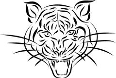 Abstract tattoo tiger, vector Stock Images