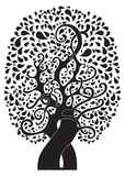 Abstract tattoo tree stock image