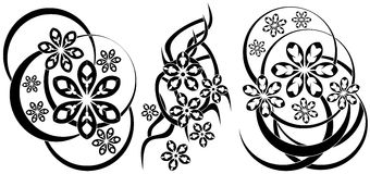 Abstract tattoos with flower Royalty Free Stock Photos