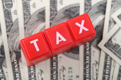 Abstract tax report time Stock Images