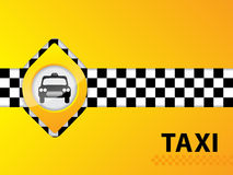 Abstract taxi background design Royalty Free Stock Photos