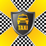 Abstract taxi background design with shield and stripes Royalty Free Stock Photography