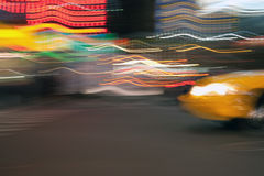 Abstract Taxi Cab Stock Image