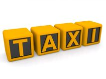 Abstract taxi sign Stock Images