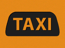 Abstract taxi sign and text Stock Photography