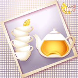 Abstract tea time card Stock Photos