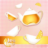 Abstract tea time card Royalty Free Stock Image
