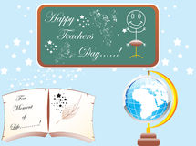 Abstract_teachers_day_elements. Abstract teachers day theme based vector illustration objects Royalty Free Stock Images