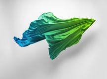Abstract teal fabric in motion stock photos