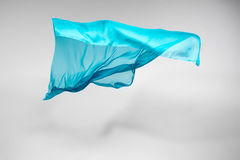 Abstract teal fabric in motion Royalty Free Stock Photography