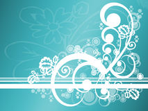Free Abstract Teal Floral Royalty Free Stock Images - 3025329