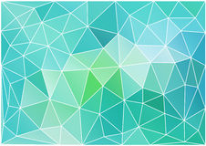 Abstract teal low poly background, vector Stock Photography