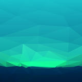 Abstract teal triangles. Abstract polygonal background. Vector illustration Stock Image