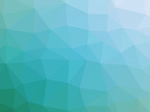 Abstract teal white gradient polygon shaped background.  Stock Photo