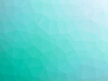 Abstract teal white gradient polygon shaped background.  Royalty Free Stock Photo