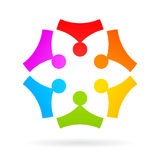 Abstract team logo Stock Photo