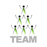 Abstract team sign Stock Image
