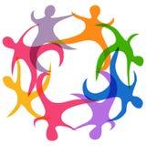 Abstract teamwork symbol Stock Photos