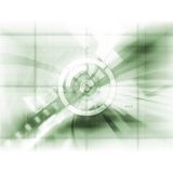 Abstract Tech. Illustration with dot screen effect Royalty Free Stock Photo