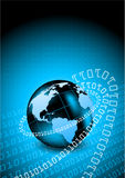 Abstract tech background. With globe Royalty Free Stock Photography