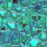 Abstract tech background. Abstract high tech circuitry background wallpaper illustration Stock Image