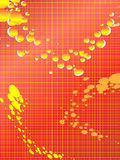Abstract tech background with bubbles Stock Photos