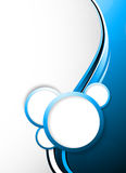 Abstract tech background with circles. Colorful illustration Stock Image