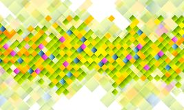 Abstract tech background with colorful squares Royalty Free Stock Photo