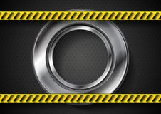Abstract tech background with danger tape Stock Photos
