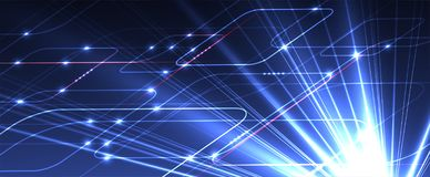 Abstract tech background. Futuristic technology interface stock image
