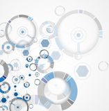 Abstract tech background. Futuristic technology interface. Vecto Royalty Free Stock Photos