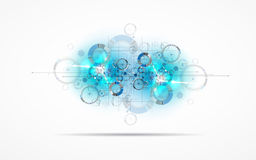 Abstract tech background. Futuristic technology interface. Vecto Royalty Free Stock Image