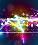 Abstract tech background. Futuristic technology interface. Vecto Stock Photo