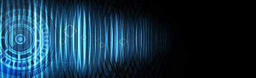 Abstract tech background. Futuristic technology interface. Vecto Stock Images
