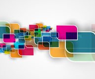 Abstract tech background. Futuristic technology interface. Vecto Stock Image