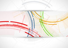 Abstract tech background. Futuristic technology interface. Vecto Royalty Free Stock Images