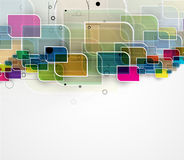Abstract tech background. Futuristic technology interface. Stock Images