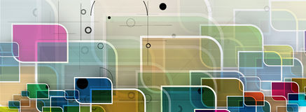 Abstract tech background. Futuristic technology interface. Royalty Free Stock Image