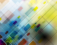 Abstract tech background. Futuristic technology interface. Stock Photography