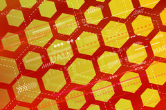 Abstract tech background with geometric shapes. Royalty Free Stock Image