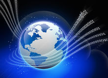 Abstract tech background with globe. 3d illustration of Abstract tech background with globe Stock Photo