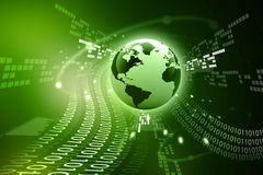 Abstract tech background with globe Stock Images