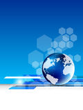 Abstract tech background with globe. This is file of EPS10 format Stock Images