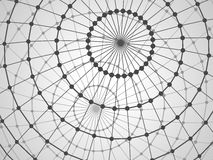 Abstract tech background with lattice  sphere. Stock Photography