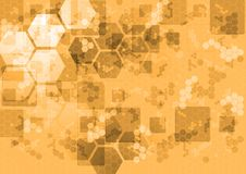 Abstract tech background with squares and hexagons Royalty Free Stock Photos