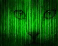 Abstract tech binary background Stock Photos